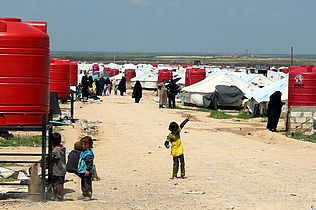 Al Hol refugee camp in Rojava, Syria
