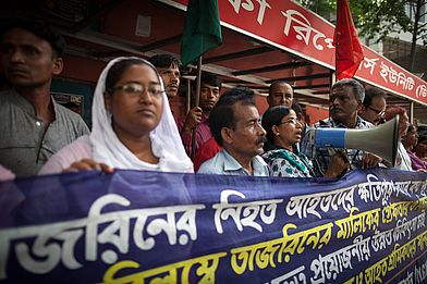 Protestaktion Bangladesch